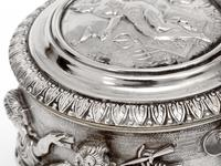 Ornate Victorian Electro Formed Silver Plated Lidded Tankard with Figural Scenes of Musicians (5 of 13)