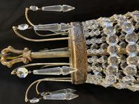 French Antique Empire Chandelier with 3 Internal Lights (5 of 13)