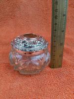 Antique Sterling Silver Hallmarked Large Vanity Hair Bottle Jar 1907 Arthur Willmore Pennington (3 of 12)