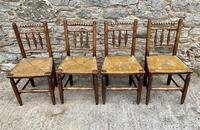 Set of 4 Antique Elm Country Chairs (2 of 13)