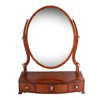 Georgian Bow Front Dressing Mirror (2 of 8)