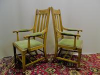Arts & Crafts oak armchairs - Shapland & Petter (4 of 6)