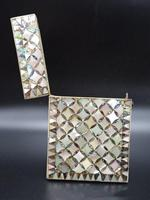 Good Late 19th Century Mother of Pearl & Abalone Pearl Card Case (2 of 4)