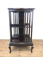 Antique Mahogany Swivel Bookcase
