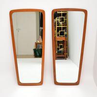 Pair of Danish Vintage Teak Mirrors (5 of 9)