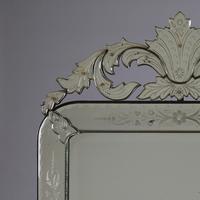 Large Italian Venetian Glass Overmantle Mirror (2 of 8)
