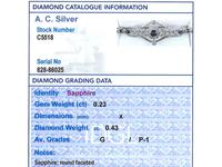 0.23ct Sapphire & 0.43ct Diamond, 18ct Yellow Gold Bracelet - Antique c.1920 (9 of 12)