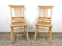 Set of Twelve Vintage Beech Chapel Chairs (6 of 15)