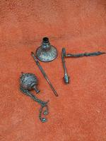 Antique Middle Eastern Hookah Silver 19th Century (10 of 12)
