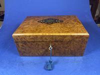19th Century French Burr Cedar Inlaid Box (5 of 11)