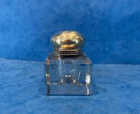 Victorian Cut Glass Inkwell with a Brass Top (7 of 10)