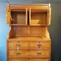 Large Edwardian Pine Chinoiserie Style Dresser (16 of 16)