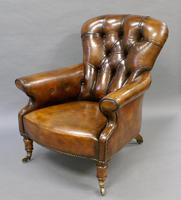 19th Century Leather Upholstered Armchair (3 of 6)