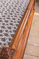 Impressive and beautiful large king size carved walnut bed & matching bedsides (9 of 13)