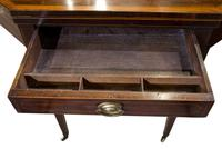 Regency Mahogany Card Table on Square Tapered Legs (9 of 10)