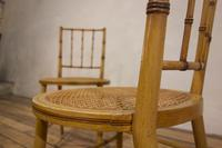 A Pair Of Late 19th Century Painted Faux Bamboo Side Chairs (5 of 11)