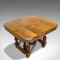 Large Antique Extending Dining Table, French, Walnut, Seats 4-10 c.1900 (5 of 12)