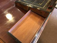 Burr Walnut Brass Inlaid Writing Box (12 of 17)