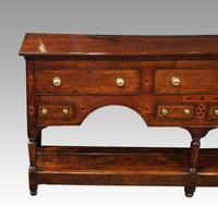 George III Oak Pot Board Dresser Base (4 of 13)