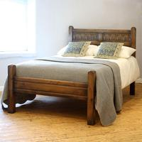 Oak Country Style Antique Double Bed