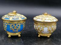 Palays Royale Pair of Boxes in Blue Opaline & Golden Brass Frame (2 of 5)