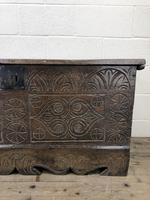 Antique Carved Oak Coffer or Blanket Box (5 of 11)