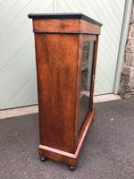 Antique Inlaid Walnut Display Cabinet (5 of 10)