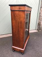 Antique Inlaid Walnut Display Cabinet (5 of 10)