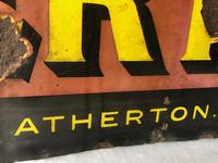 Large Rare Medicine Chemist Stotherts Atherton Chest & Lung Mixture Enamel Sign (5 of 21)