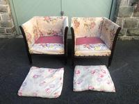 Pair of Antique English Upholstered Chairs (11 of 12)