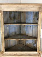 Victorian Stripped Pine Corner Cupboard with Glazed Top (4 of 11)