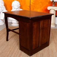Carved Oak Desk French Writing Table Golden (14 of 15)