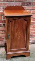 Edwardian Mahogany Wood Inlaid Bedside Cabinet (2 of 7)