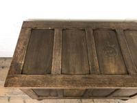 Vintage Oak Panel Blanket Box or Coffer Chest (4 of 15)