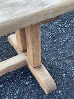 Large French Rustic Bleached Oak Farmhouse Dining Table (35 of 36)