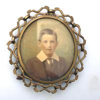 Attractive Portrait Miniature in a Quality Arts & Crafts Frame 19th Century