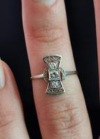 Vintage Art Deco Diamond Filigree Ring, 18ct Gold & Platinum (12 of 14)