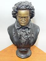 Classical Music Interest German Bronze Composer Ludwig Van Beethoven Bust Sculpture (9 of 25)