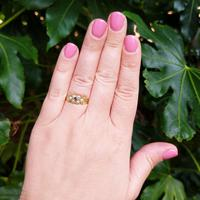 Antique 18ct Yellow Gold Garnet & Pearl Locket Ring (4 of 10)