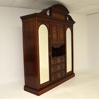 Antique Victorian Inlaid Mahogany Wardrobe by James Shoolbred (15 of 17)