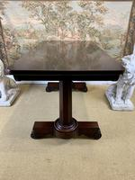 Large 19th Century Rosewood Library Table (2 of 6)