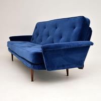1950's Vintage Velvet Sofa Bed (3 of 12)