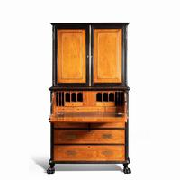 Anglo-Chinese Camphor & Ebony Campaign Secretaire Bookcase (15 of 15)