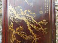 Impressive Pair of Chinese Chinoiserie Lacquered Panels (9 of 10)