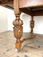 Antique Oak Draw Leaf Dining Table (7 of 10)