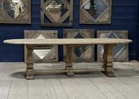 Huge French Bleached Oak Monastery Dining Table (5 of 30)