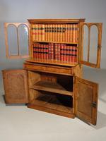 Beautifully Made Late 19th Century Oak & Burr Oak Small Bookcase Cabinet (3 of 4)
