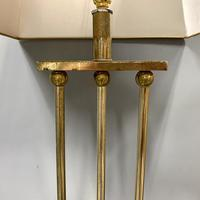 Pair of Chrome & Brass Rodded Table Lamps (8 of 9)
