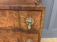 Charming Queen Anne Style Burr Walnut Bureau (4 of 12)