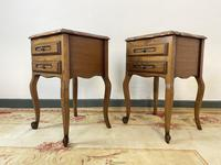 Vintage French Pair of Louis Style Bedsides Tables Oak Cabinets (7 of 12)
